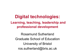 ICT and the Transformation of Learning
