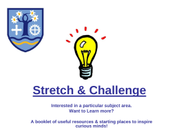 Stretch & Challenge: Booklet
