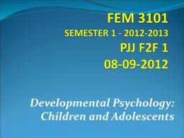FEM 3101 (Sem Pertama 2011