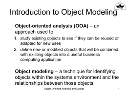 (Advanced) Object-Oriented Analysis and Design Workshop