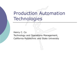 Production Automation Technologies: NC, CNC, DNC, and …
