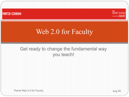 Web 2.0 for Faculty