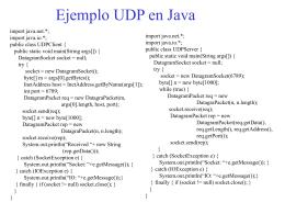 Ejemplo UDP en Java