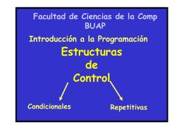 Estructuras de Control en C - Facultad de Ciencias de la