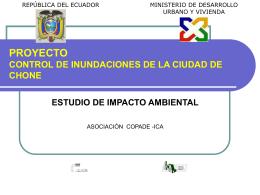 PROYECTO CONTROL DE INUNDACIONES DE LA CIUDAD …