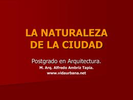 LA NATURALEZA DE LA CIUDAD
