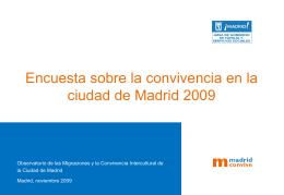 Encuesta de la convivencia de la ciudad de Madrid