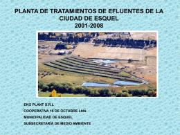PLANTA DE TRATAMIENTOS DE EFLUENTES DE LA …