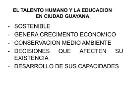 EL TALENTO HUMANO Y LA EDUCACION EN CIUDAD …