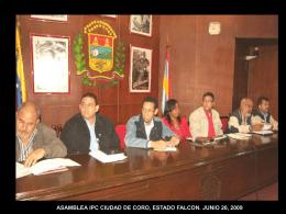 ASAMBLEA IPC CIUDAD DE CORO, ESTADO FALCON. …