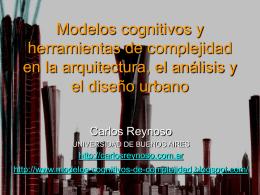 Modelos cognitivos y herramientas de complejidad en la