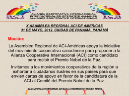 X ASAMBLEA REGIONAL ACI-DE AMERICAS 31 DE MAYO, …