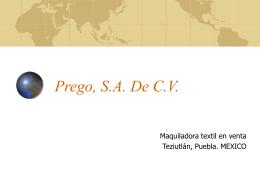 Prego, S.A. De C.V.