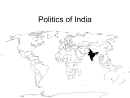Politics of India - University of Mississippi