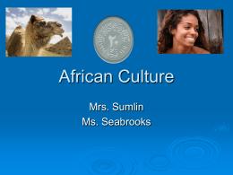 African Culture - Cooper Blog