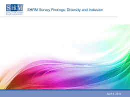 SHRM Survey Findings: Diversity and Inclusion