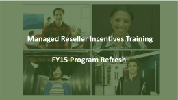 Training Objectives - Managed Reseller Activation Kit
