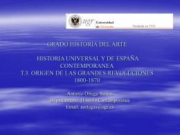 ORIGEN DE LAS GRANDES REVOLUCIONES 1800-1870