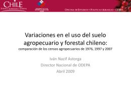 Variaciones en el uso del suelo agropecuario y forestal