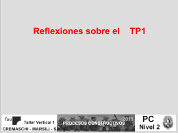 Diapositiva 1 - CREMASCHI - SAENZ | FAU