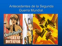 Antecedentes de la Segunda Guerra Mundial.