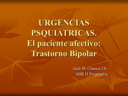 URGENCIAS PSQUIATRICAS – Trastorno Bipolar