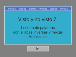 INVERSAS MIXTAS - 9 l e t r a s | Blog de recursos