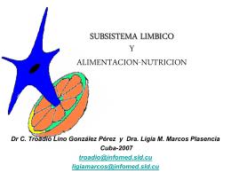 SUBSISTEMA LIMBICO Y ALIMENTACION