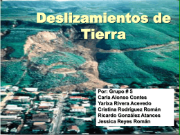 Tipos de landslides - Department of Geology