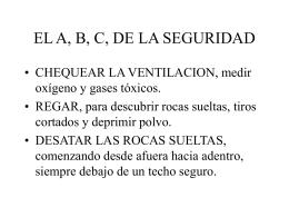 EL A, B, C, DE LA SEGURIDAD