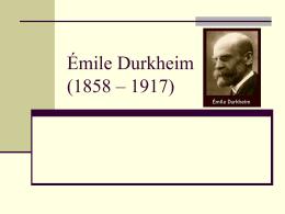 Emile Durkheim - Introduccion a las Ciencias Sociales