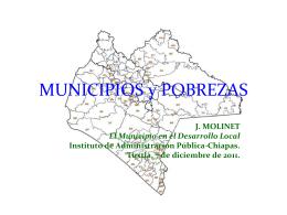 Municipios y Pobrezas