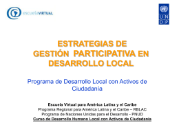 Diapositiva 1 - Escuela Virtual PNUD