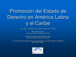 Criminal Justice and Development in Latin America