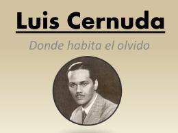 Luis Cernuda - Inicio