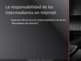 La responsabilidad civil de los buscadores de Internet.