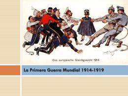 La Primera Guerra Mundial 1914-1919