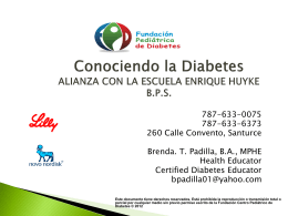 Conociendo la Diabetes