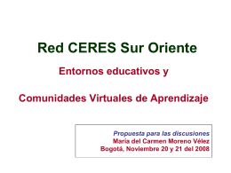 Red CERES Sur Oriente