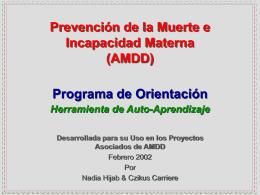 AMDD Program Orientation