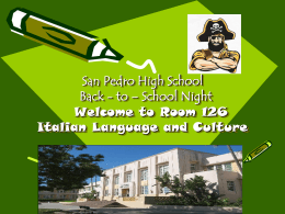 School Improvement - San Pedro High School