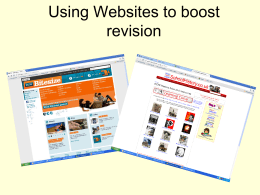 Using Websites to boost revision