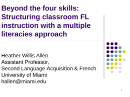 Teacher Cognition & Dynamic Assessment in the University