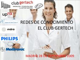 REDES DE CONOCIMIENTO EL CLUB GERTECH