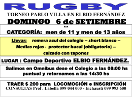 Torneo PABLO VILLA. Sub 13 y Sub 14 Cantegril Country …