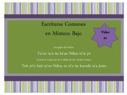 Escrituras Comunes en Mixteco Bajo