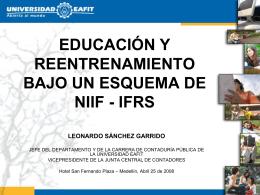 Educacion y reentrenamiento bajo un esquema de NIIF