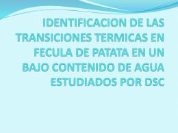 IDENTIFICACION DE LAS TRANSICIONES TERMICAS EN …