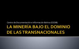 MINERIA EN BOLIVIA