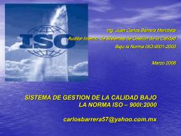 SISTEMA DE GESTION DE LA CALIDAD BAJO LA NORMA …